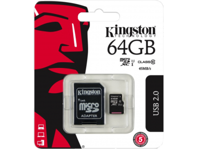 Nekompromisní Kingston Micro SDXC karta 64GB za super cenu!